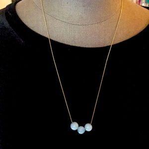 Light Blue Minimal Bead Necklace
